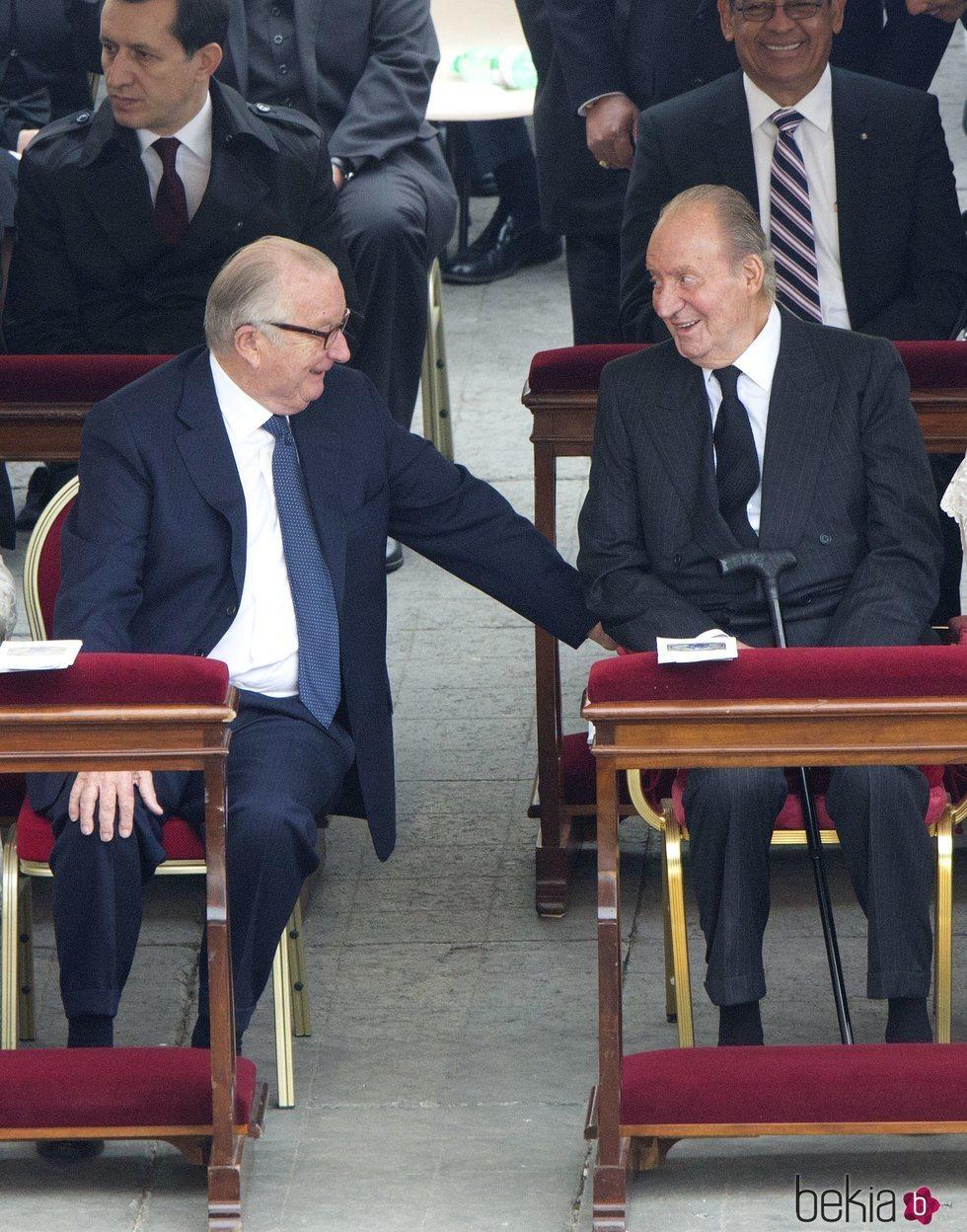 El Rey Juan Carlos y Alberto de Bélgica