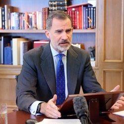 El Rey Felipe en su intervención telemática en la apertura del Spain Investors Day