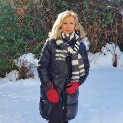 Nieves Herrero en la nieve tras el temporal 'Filomena'