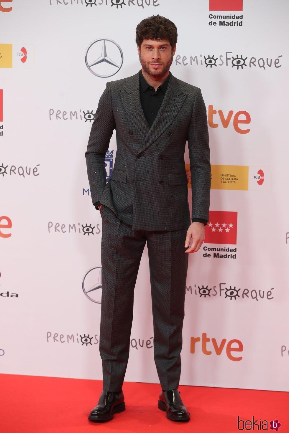 José Lamuño en la alfombra roja de los Premios José María Forqué 2021