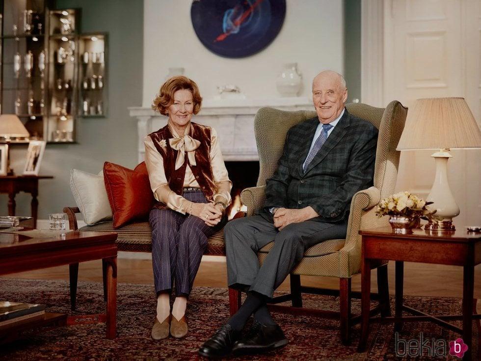 Harald y Sonia de Noruega en su 30 aniversario de reinado