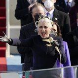 Lady Gaga cantando en la toma de posesión de Joe Biden