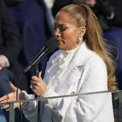 Jennifer Lopez, cantando en la toma de posesión de Joe Biden