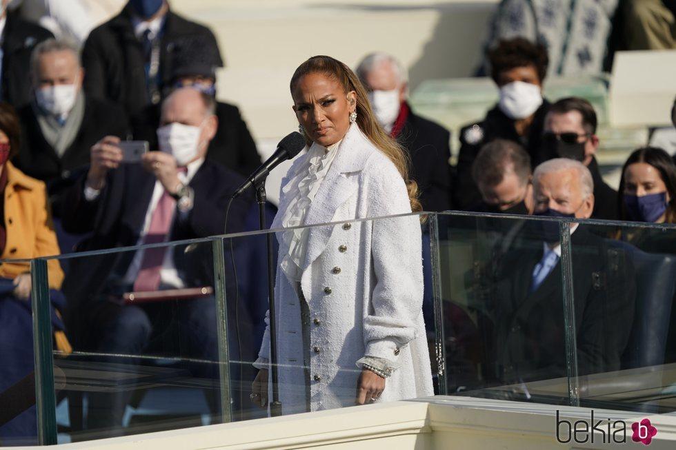 Jennifer Lopez, a punto de actuar en la toma de posesión de Joe Biden