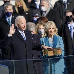 Joe Biden, tomando posesión de su cargo como 46º Presidente de Estados Unidos