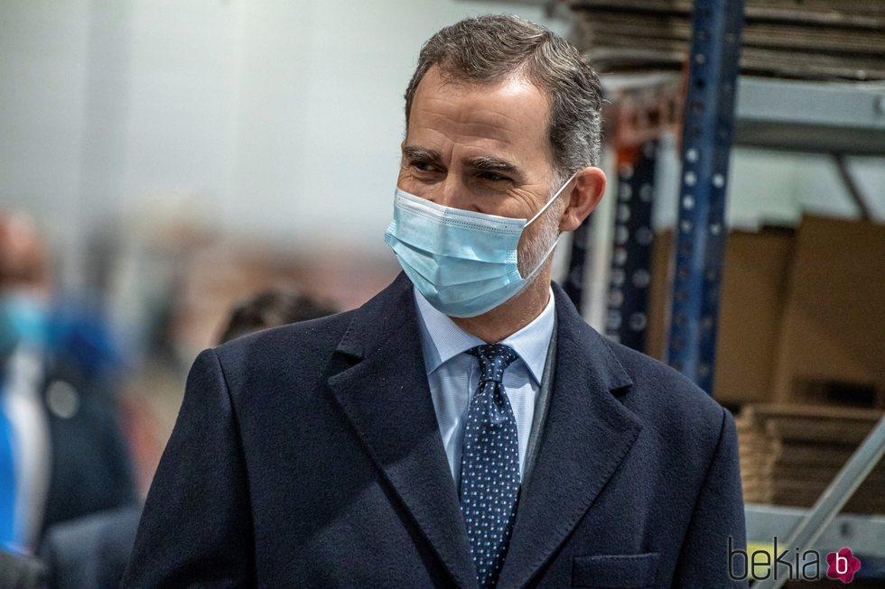 El Rey Felipe en su visita al Parque eco industrial La Veredilla II de Illescas