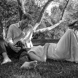 El Príncipe Harry y Meghan Markle en el momento de anunciar que esperan su segundo hijo