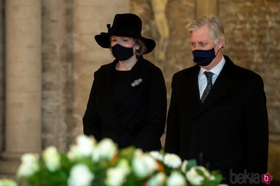 Felipe y Matilde de Bélgica visitan la Cripta Real de la Familia Real Belga