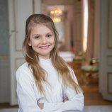 Estela de Suecia en su 9 cumpleaños