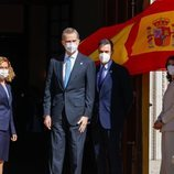 El Rey Felipe con el Presidente del Gobierno, la Presidenta del Congreso y la Presidenta del Senado en el 40 aniversario del 23F