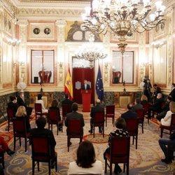 El Rey Felipe ofrece un discurso ante los poderes del Estado en el 40 aniversario del 23F