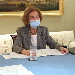 La Reina Sofía en una reunión con la Federación Española de Bancos de Alimentos