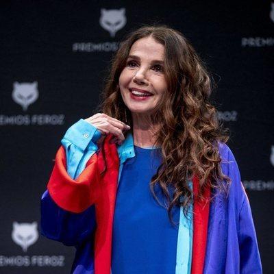 Victoria Abril en la rueda de prensa de su Premio Feroz de Honor 2021