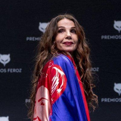 Victoria Abril en la rueda de prensa del Premio Feroz de Honor 2021