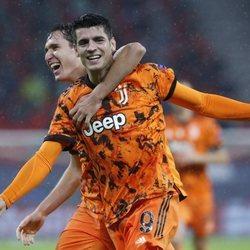 Álvaro Morata celebrando un gol con la Juventus de Turín