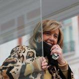María Teresa Campos en el camión de 'La Campos móvil'