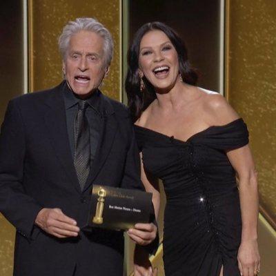 Michael Douglas y Catherine Zeta-Jones en los Globos de Oro 2021