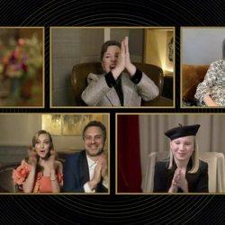 Glenn Close, Olivia Colman, Jodie Foster y Alexandra Hedison, Amanda Seyfried y Thomas Sadoski y Helena Zengel en los Globos de Oro 2021