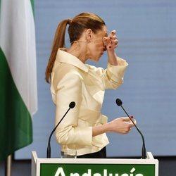 Eva González, emocionada en la entrega de las Medallas de Andalucía 2021
