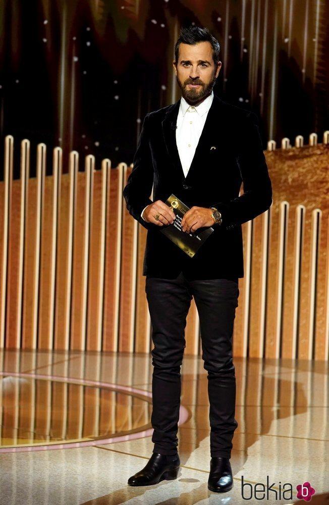 Justin Theroux en los Globos de Oro 2021