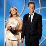 Kyra Sedgwick y Kevin Bacon en los Globos de Oro 2021