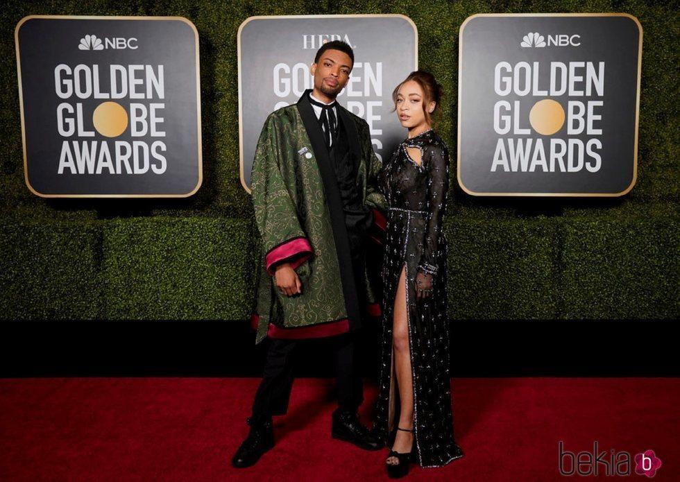 Jackson Lee y Satchel Lee en los Globos de Oro 2021