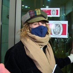 Emma Suárez en el tanatorio para despedir a Quique San Francisco