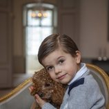 Oscar de Suecia con su perro Rio