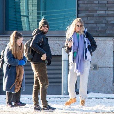 Toni Garrn y Alex Pettyfer en Berlín