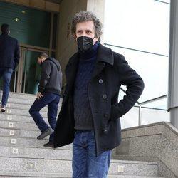 Gabino Diego en el tanatorio para dar el último adiós a Quique San Francisco