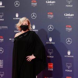 Carmen Machi en la alfombra roja de los Premios Feroz 2021