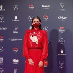 Macarena Gómez en la alfombra roja de los Premios Feroz 2021