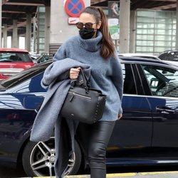 Nuria Fergó en la estación de Atocha