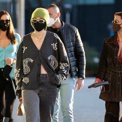 Irina Skayk, Gigi y Bella Hadid en Milán durante la Semana de la Moda