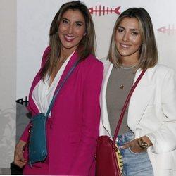 Paz Padilla y Anna Ferrer en la presentación de su colección de bolsos