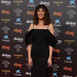 Belén Cuesta en la alfombra roja de los Goya 2021
