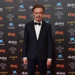 Tristán Ulloa en la alfombra roja de los Goya 2021