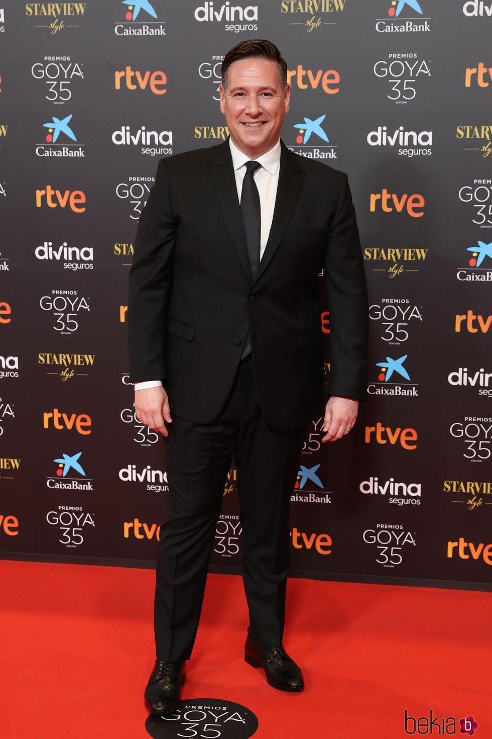 Carlos Latre en la alfombra roja de los Goya 2021