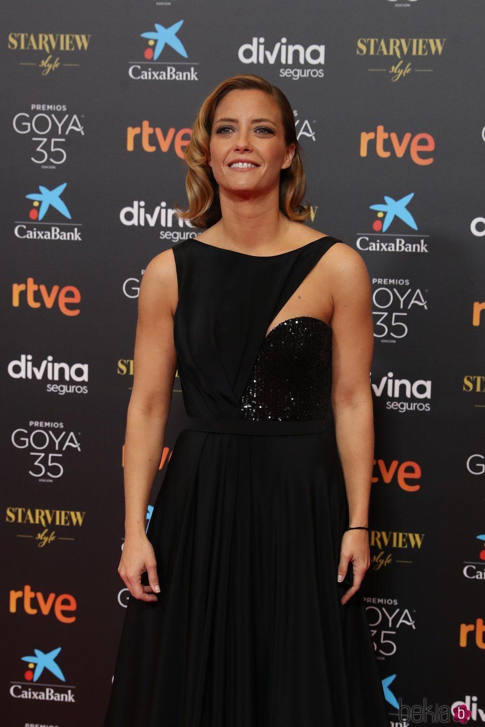 María Casado en la alfombra roja de los Goya 2021