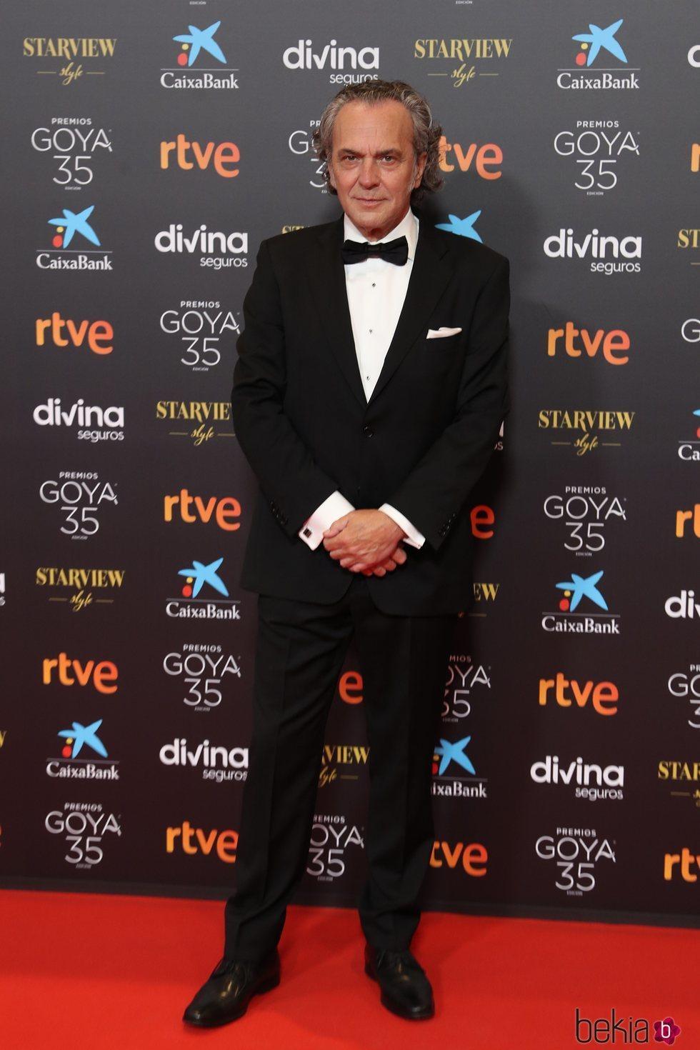 José Coronado posa en la alfombra roja de los Goya 2021