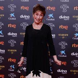 Verónica Forqué en la alfombra roja de los Goya 2021