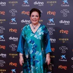 Mónica Randall en la alfombra roja de los Goya 2021