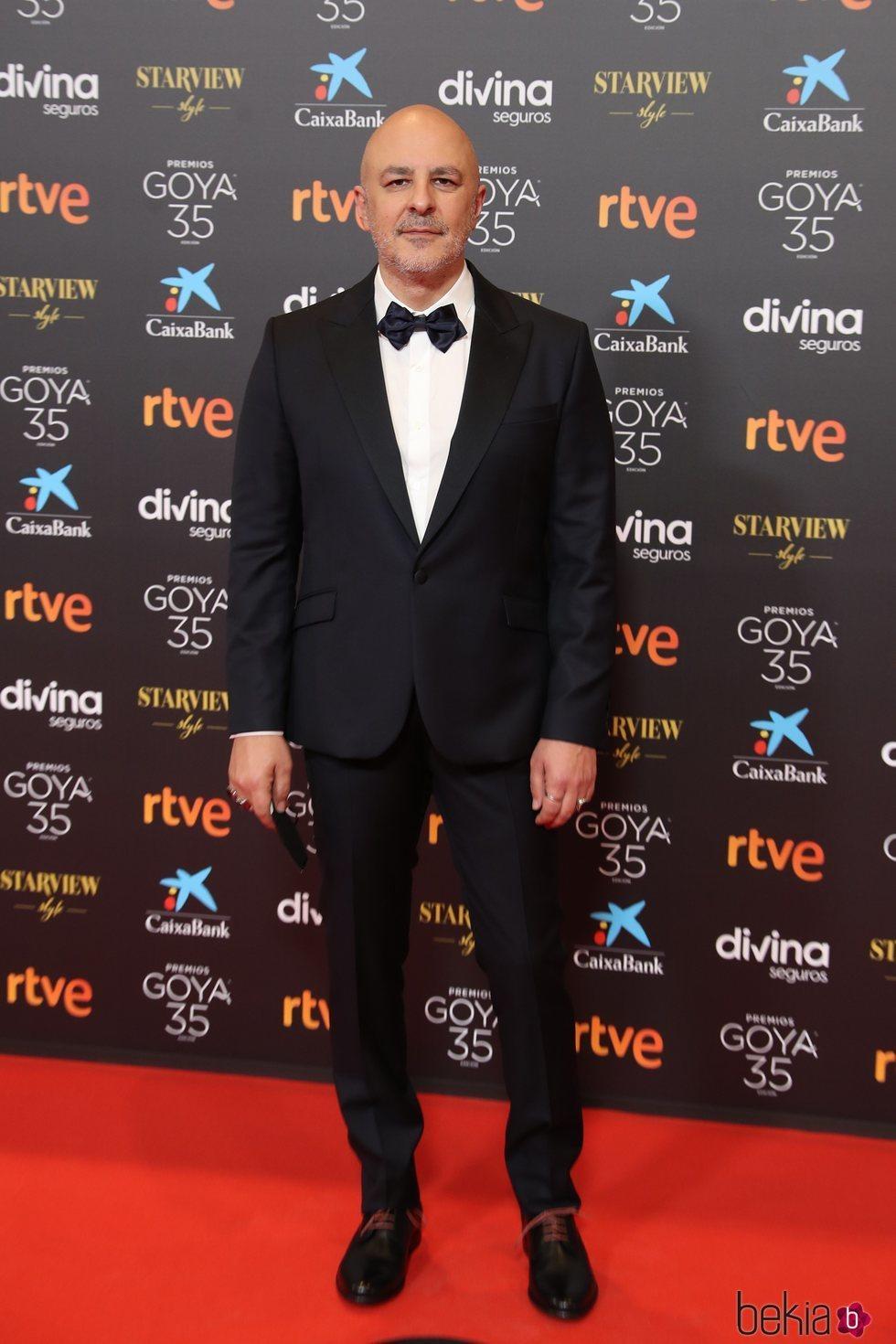 Roberto Álamo en la alfombra roja de los Goya 2021