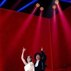 Diana Navarro y Carlos Latre en la gala de los Goya 2021
