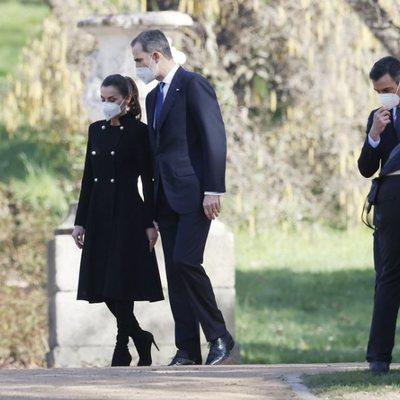 Los Reyes Felipe y Letizia y Pedro Sánchez en el Acto de Reconocimiento y Memoria a todas las Víctimas del Terrorismo en Madrid