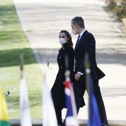 Los Reyes Felipe y Letizia con motivo del Acto de Reconocimiento y Memoria a todas las Víctimas del Terrorismo en Madrid