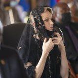 Charlene de Mónaco en el funeral del Rey Goodwill Zwelithini en Sudáfrica