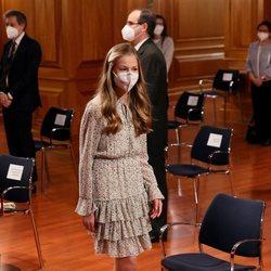 La Princesa Leonor durante la celebración de su primer acto oficial en solitario en el Cervantes