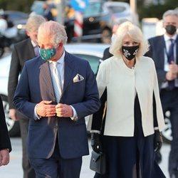 El Príncipe Carlos y Camilla Parker en la Galería Nacional de Arte de Atenas en su visita a Grecia para celebrar el bicentenario de la Independencia de Gre