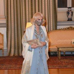 Camilla Parker en la cena de Estado con motivo de su visita a Grecia para celebrar el bicentenario de la Independencia de Grecia